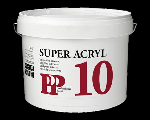PP Super 10 Acryl Vægmaling