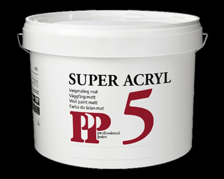 PP Super 5 Acryl Loft- og Vægmaling