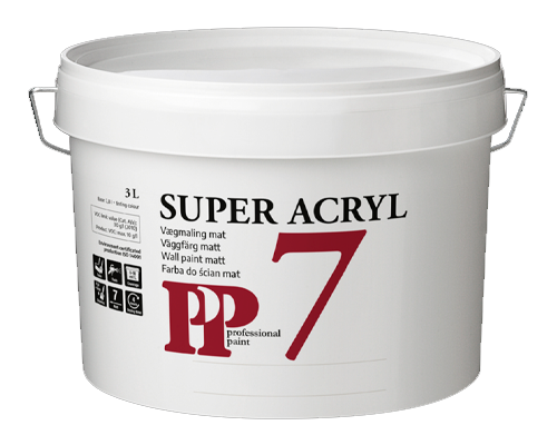 PP Super 7 Acryl Vægmaling