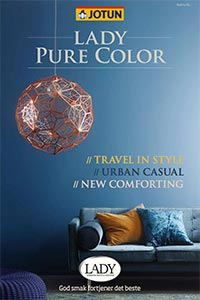 Find dine farver til matte vægge med farvekortet LADY PURE COLOR