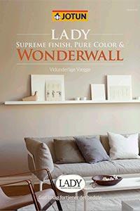 Find de lækre farver til Jotun Lady Wonderwall med dette farvekort