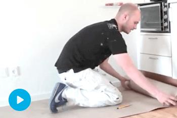 Afdækning af gulv inden du maler