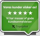 Malgodt.dk ligger nummer 1 i kategorien Maling på Trustpilot